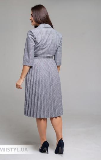 Платье Lady Morgana 6010 Серый/Пудра/Клетка