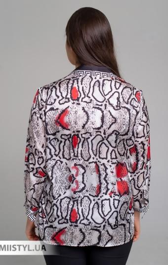 Блуза SHN 4536 Бежевый/Красный/Принт