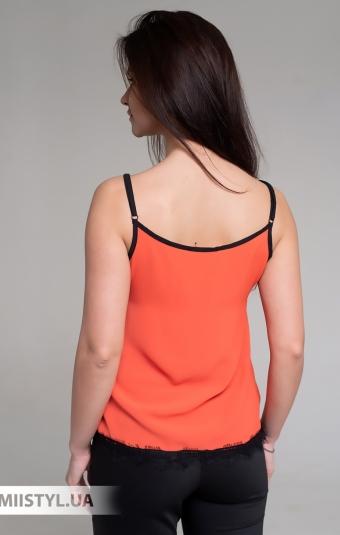 Блуза La Fama 1107 Оранжевый/Черный