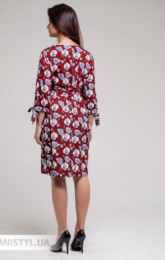 Платье GrimPol 1848 Марсала/Принт