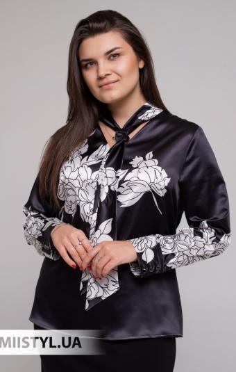 Блуза Pretty Lolita 12676 Белый/Зеленый/Принт