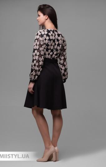 Платье Dojery 3311126 Черный/Бежевый