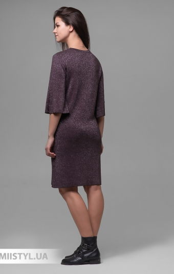 Платье Serianno 10С6324 Баклажановый/Люрекс