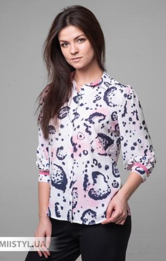 Блуза SHN 4540 Белый/Розовый/Принт