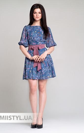 Платье La Fama 1296 Джинсовый