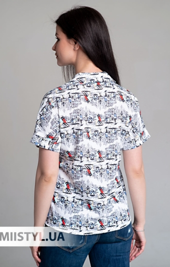 Блуза Cliche 2544396 Белый/Принт