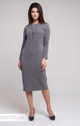 Платье Merkur 11015 Серый/Меланж