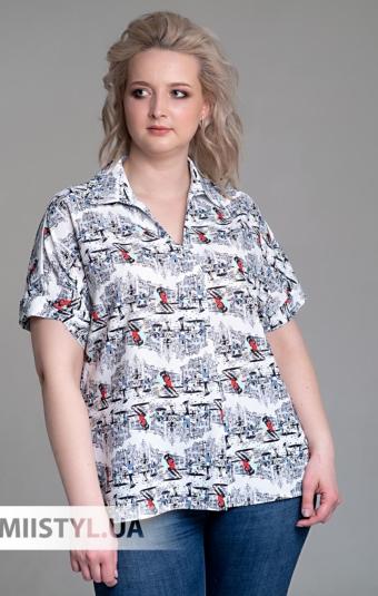 Блуза liche 2549396 Белый/Принт