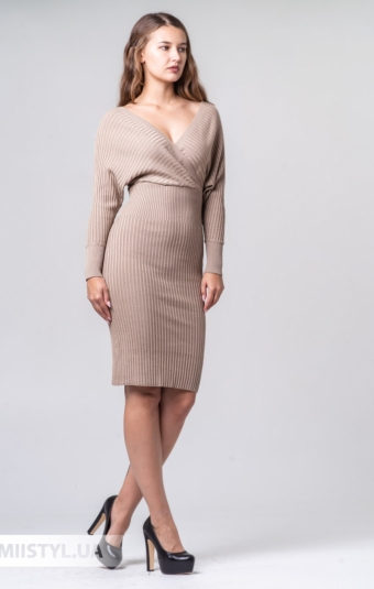 Платье Lady Form 19K5002 Бежевый