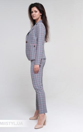 Костюм Rachi 4220 Серый/Розовый/Клетка