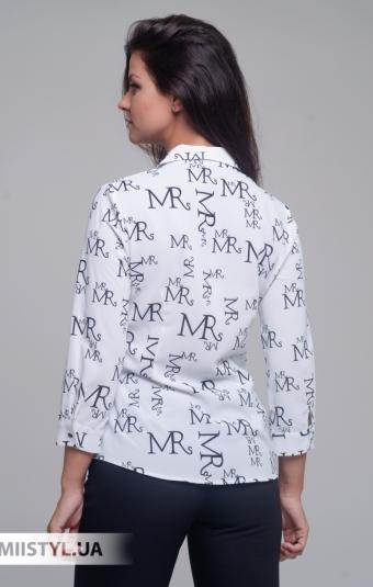 Блуза Merkur 0535043 Белый/Черный/Принт