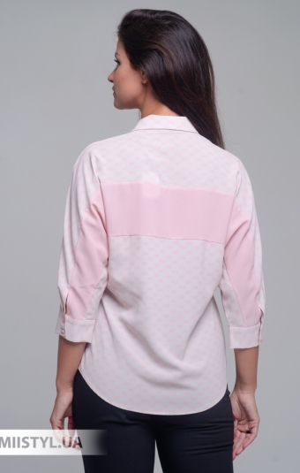 Блуза Merkur 0525040 Бежевый/Розовый/Принт