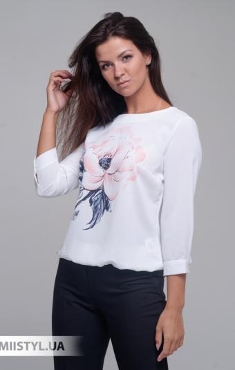 Блуза Merkur 0565046 Белый/Пудра/Принт