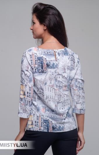 Блуза Merkur 0555047 Белый/Коралловый/Принт