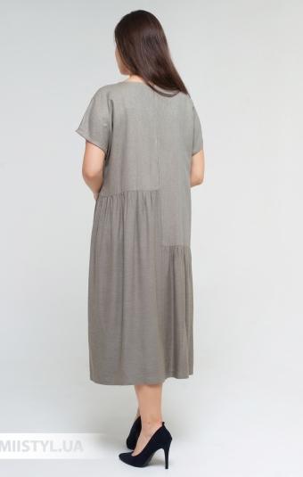 Платье Miss Lilium 20Y10027AX Хаки/Люрекс