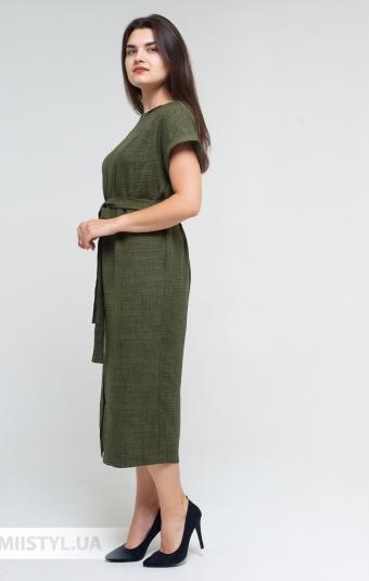 Платье Nikolo Polini 3086 Темно-зеленый