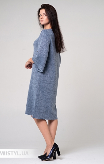 Платье Serianno 10С5140 Серый/Голубой/Люрекс
