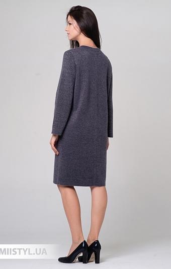 Платье Serianno 10С6216 Темно-серый/Люрекс