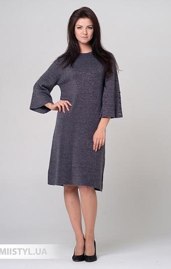 Платье Serianno 10С5140 Темно-серый/Люрекс