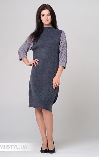 Платье Serianno 10С5912 Темно-серый/Люрекс