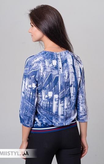 Блуза Cliche 3374526 Джинсовый/Принт