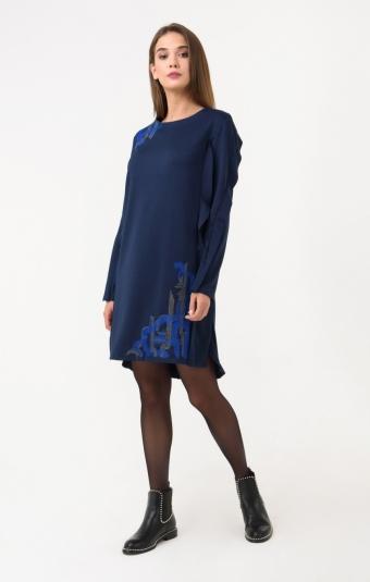 Платье RM1243-18DD Синий
