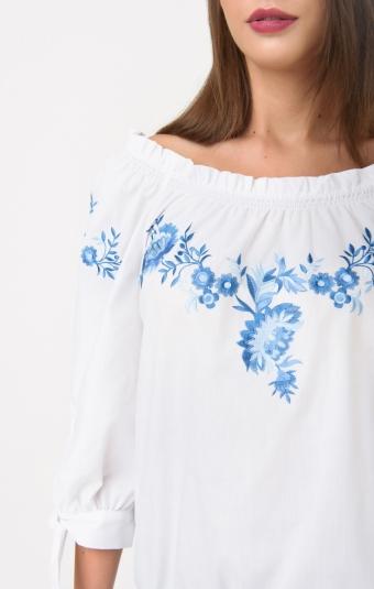 Блуза RM164-1-18DB Синий