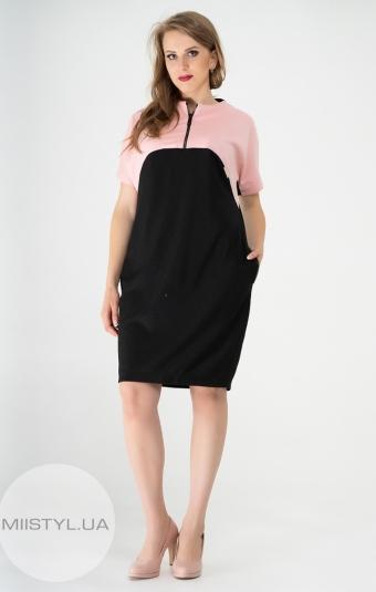 Платье Nikolo Polini 2036 Черный/Пудра