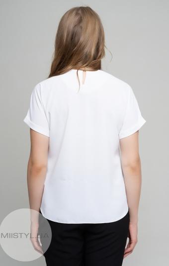 Блуза X&T 18225 Белый/Пудра/Принт