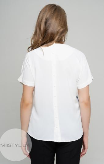 Блуза Cliche 1078034 Белый/Индиго/Принт