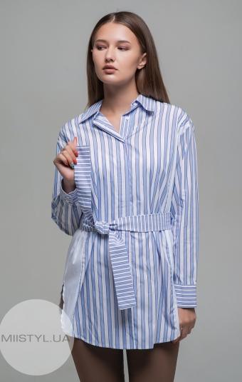 Блуза Imperial CHE2WVU Белый/Голубой/Полоска