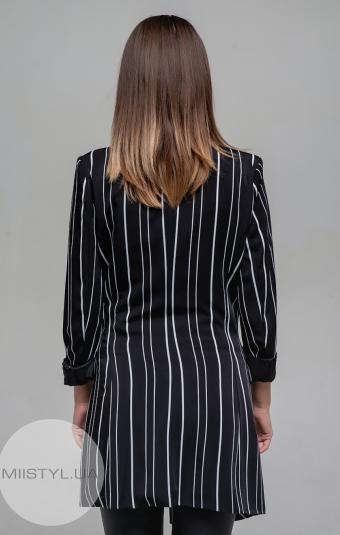 Жакет Lumina 6363 Черный/Белый/Полоска