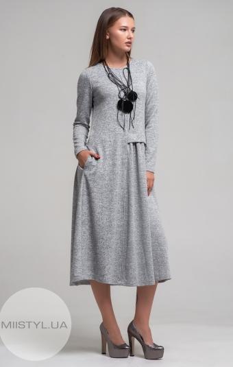Платье Mira Mia 19k6067 Светло-серый/Меланж
