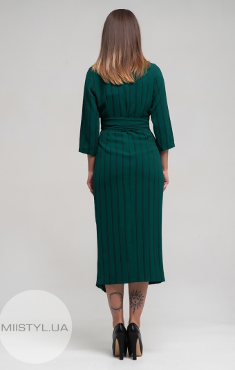 Платье Dojery 123708 Зеленый/Полоска