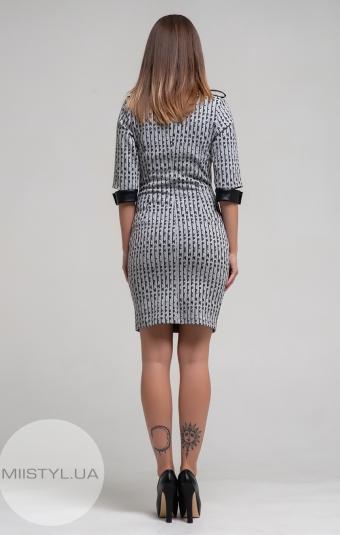 Платье X-Fi 3228 Серый/Черный/Принт