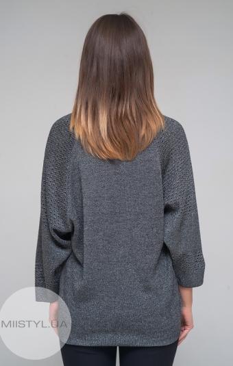 Джемпер короткий рукав Serianno 10C4204 Темно-серый/Люрекс