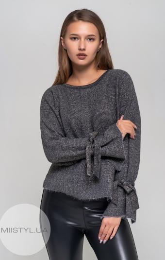 Джемпер Serianno 10C3464 Темно-серый/Люрекс