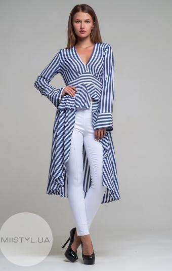 Костюм Lady Morgana 4636 Белый/Синий/Полоска