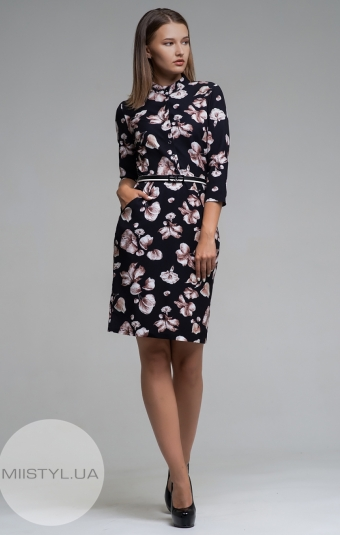 Платье La Fama 1161 Черный/Принт