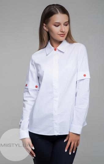 Блуза Cliche 1294123 Белый/Красный