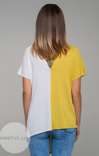 Блуза HZ 1647 Горчичный/Белый