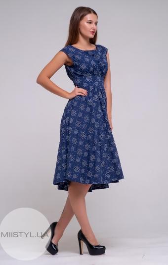Платье Mira Mia 18y6100 Темно-синий/Принт