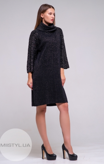 Платье Serianno 10С4598 Черный/Люрекс