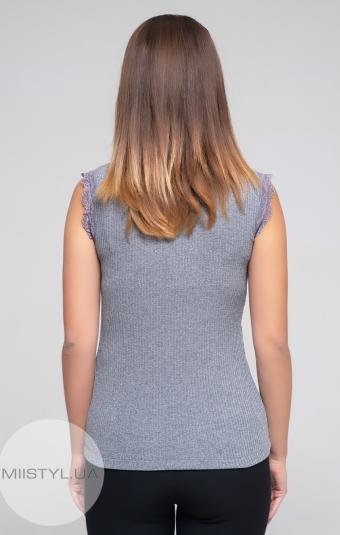 Блуза F&K 4261-1 Серый/Люрекс
