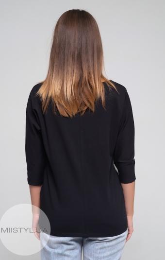 Блуза Giocco 5099 Черный/Серебристый