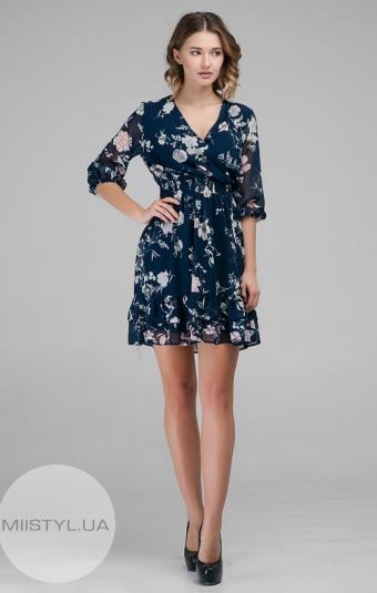 Платье Body form 9620 Темно-синий/Принт