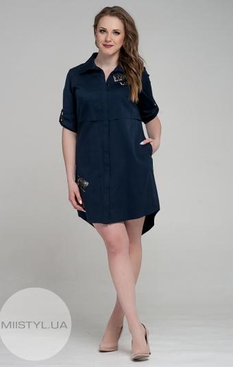 Платье Marisis 2170-03 Темно-синий