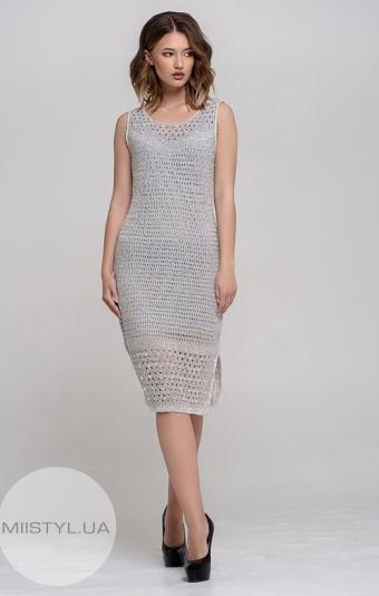 Платье Serianno 10C2412 Серый/Люрекс
