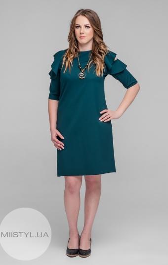 Платье La Fama 891B Изумрудный