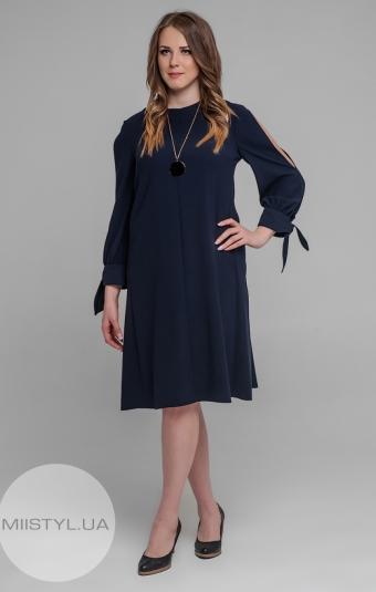 Платье November 40529 Темно-синий